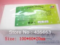 Free Shipping,white Magic Sponge Eraser Melamine sponge Cleaner,100x60x20mm,packed 10pc/bag,multi-functional Cleaning  200pc/lot
