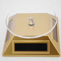 Solar Display Stand+360 Degree Turnable Plate+Rotary Base+Desk Decoration+Novelty Gifts