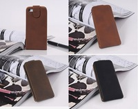 High Quality PU Phone Tested For IPhone 5 Flip Style Leather Cover Phone Case
