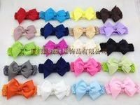 50pcs/lot 20 colors ,10.5 cm ribbon bows on the Baby elastic headbands, children hairbands ,girls ribbon headbands