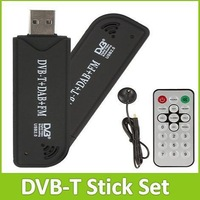 RTL-SDR / FM+DAB / DVB-T USB 2.0 Mini Digital TV Stick DVBT Dongle SDR with RTL2832U & R820T Tuner Receiver + Remote Control