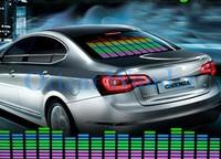 Free shipping 90*25cm Sound Rhythm Music Activated EL Equalizer Car Sticker Glow Flash Panel Multi Designs LED Price Cutting