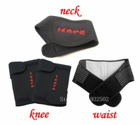 Free shipping self heating Magnetotherapy Waist knee neck 4PCS protection belt set rheumatoid arthritis thermal protector