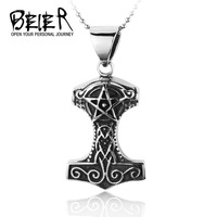 New Design of Thor Pendant  Marvel Comics Chris Hemsworth Accessories Stainless Steel Man's Jewelry Gothic Free Shipping BP8-002