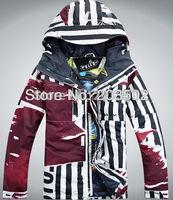 Free shipping 2013 new mens outdoor waterproof snowboard jacket sports ski jacket men snow jacket skiwear ski suit anorak red
