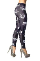 2013 Fashion Women's Punk boy Eagle Print Black Slim Leggings Printing Plux size Leggings Gym Yogo