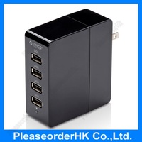 ORICO DCA-4U 4 Port Travel USB Wall Charger Input 110V Output 5V 1A 2A for Apple iPhone 6/5s/5c/4s/iPad/Samsung Galaxy s3/s4/s5