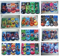 Wholesale New Baby Kids Childrens Cotton Socks For 2-8years Boys Girs Cartoon Mickey Minnie Fashion Sock 12pcs/lot More Colors