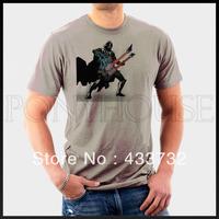 men's tee Star wars rock n roll T-shirt / mens short-sleeve   sport t shirt