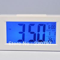 Hot Sale Snooze Digital Alarm Clock White LED Backlight Large LCD Display