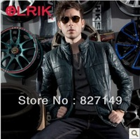 2013 New Brand Italy Fashion PU leather Military Biker Jacket Men Coat Size M-XXXL FREE SHIPPING