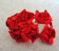 artificial paper flowers for wedding party decoration&accessories diy handmade,Rolled roses paper flower bouquet!