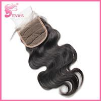 "Peruvian Lace Closure Body Wave Bleached Knots 4""*3.5"" 100% Unprocessed Human Virgin Hair Closure Shipping Free"