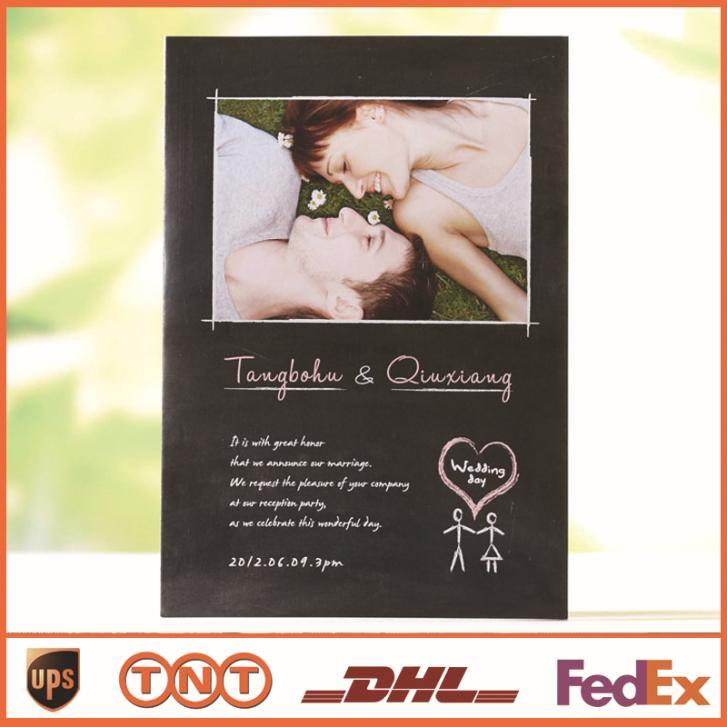 Cartão do convite convites gratuitos para impressão impressão colorida da foto do casamento de frete grátis favores do casamento(China (Mainland))