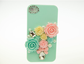 Newly plastic roses case for iphone 4,4s,5  plastic hard case for smart phones phone cover/ mobile phone case cover  z062