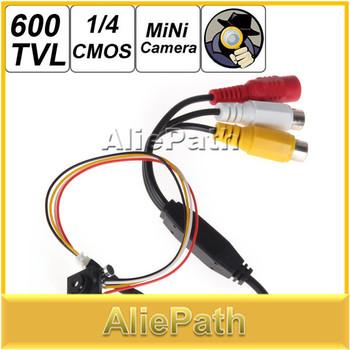 "600TVL 5MP 1 / 4"" HD Smallest Mini Camera Pinhole CCTV Camera CMOS Hidden Covert Cam Home Security Camera  Audio Surveillance"