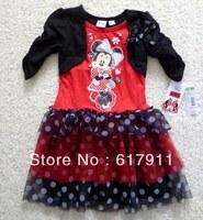 2013 New Girls Minnie Mouse Cloth Girls Tutu Dress Baby princess dresses tutu dress children's brand clothes Retail Christmas
