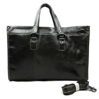 Real Cowhide Leather Men Briefcases Bags Quality Vintage Men Bags Men's Shoulder tote men's messenger travel bag 2015 free ship