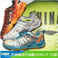 Fast Delivery Arrived Within 19 Days 1 Pair  LiNing LinDan Hero 2 TD Badminton Shoes Light Ventilate Antiskid Sneaker AYTJ013