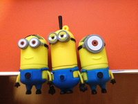 free shipping 2013 Hot sale Wholesale - Despicable Me 2 , 16GB 32GB USB 2.0 Flash cartoon Minions toy Memory Stick