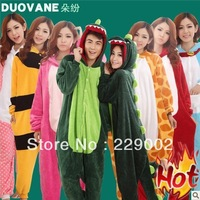 HOT Kigurumi Pajamas Pyjama Animal Suits Cosplay Costume Adult Garment Flannel Cute Cartoon Onesies Sleepwears Free Shipping