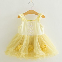 2013 New,girls princess dress,children summer dress,babys slip dress, appliques,lace,0-5 yrs,5 pcs / lot,wholesale kids clothing