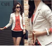 Spring&Autumn Brand Plus size blazer women candy color slim short designer Jacket Long sleeve formal blazer feminino OL coat