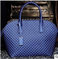 2013 Fashion Handbags Brand Designer Crocodile Pattern Embossed Genuine Leather Women Handbag Shoulder Cowhide Vintage Big Bag