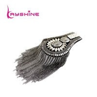 New Arrival Hot Selling Carved Button Flower Tassel Steampunk Alloy Brooch