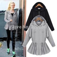 New 2014 cardigan tracksuit hoodies clothing women sweatshirt winter sportswear coat jogging suits for women 100% cotton