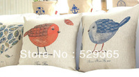 2013 Retro Cotton Pillowcase Chick Pattern Four Kinds Of Decorative Pillowcase To Keep Cushion Lumbar Pillow Free Shipping