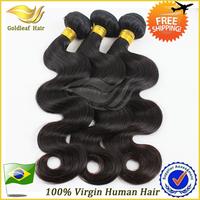 Queen hair products Wholesale Brazilian Virgin Hair Body Wave Grade 6A 3pcs lot 100% Human hair weave Unprocessed hair Black