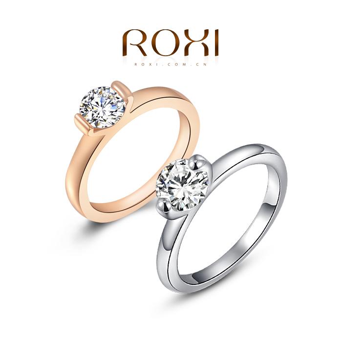 ROXI 2014 New Year Swiss CZ To Girlfriend Gifts RING ,top quality beautiful, 100% hand made fashion jewelry,2010003185(China (Mainland))