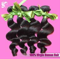 EVAS Unprocessed 6A Quality Indian Virgin Hair Loose Wave Human Hair Extension 4Pcs Lot Cheap Wholesale Virgin Indian Hair Weave