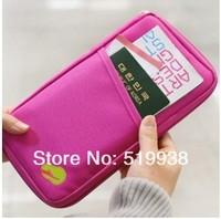Free shipping Fashion New Travel Passport Credit ID Card Cash Holder Organizer Wallet Purse Case Bag,Multicolor