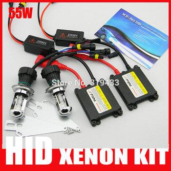 FREE SHIPPING h4 high low h13 9004 9007 car Bi xenon hid kits 35w Hi Lo Beam Lamp 3000k 6000k 8000k 4300k 12000k Purple Pink