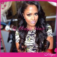 Free Shipping ! Cheap Wholesale Price 100% Human Hair charming Wavy Brazilian Human Hair Lace Front Wigs for black women