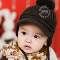 New 2013 Hot Sale Casual Fashion Warm Cute Winter Baby Hats For Children's Knitted Hat Kids Crochet Caps Toddler Cap