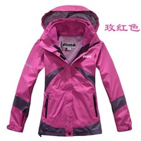 New Women's Winter Jacket Outdoor Sports Coat Hooded Emergency Clothing Two Piece Removable Waterproof Warm Ski Mountaineering