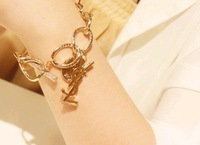 (Min order $10) Free Shipping Trend FASHION 18 K GOLD Bracelet Factory Price