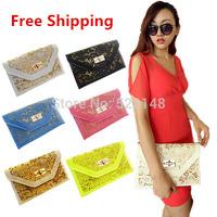 New 2014 vintage fashion women's trend handbag small cutout envelope bag day clutch bag shoulder bag cross-body bag