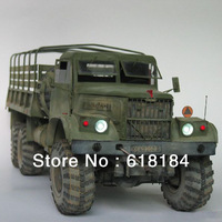 Free shipment diy toys paper model car Russia KRAZ-255B-6X6, 1:25 scale simulation military truck model 3d puzzles for adults