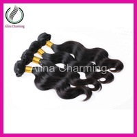 For your nice hair AAAAA 3pcs lot Indian virgin body wave unprocessed human hair weaving natural color 100g/bundle Free shipping