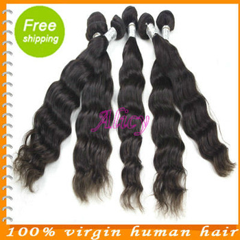 Cheap queen hair 5A products 100%  brazilian virgin natural wave hair original unprocessed hair 4 bundles lot