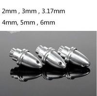 2 - 6mm, Aluminum Alloy Propeller Adapter Bullet Paddle Clip Phi Gemfan RC Adapter Holder for Brushless Motor Prop
