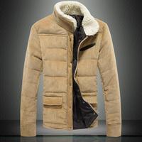 Hot-selling 2014 Plus Size 4XL 5XL Fleece Corduroy Wadded Jacket Men Cotton Filling Thickening Wadded Coat Men Winter Jacket