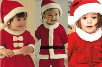 Free shipping baby boys and girls Christmas clothing, wearing Santa baby, baby winter suit retail