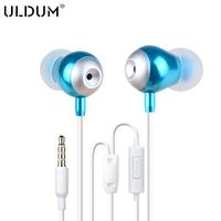 Uldum bass in ear  headphones mp3 earphones bass headsets for phone
