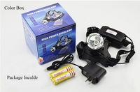 1800Lms Flashlight Torch CREE XML-T6 LED Headlamp For  Bicycle  Riding Fishing  Light  Lantern+ Battery+Charger FreeShipping