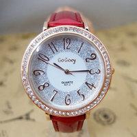 2014 vogue High quality brand watch women Ladies rhinestone dress quartz wrist watch for gift go053